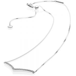 Pandora Sparkling Wishbone Necklace 45cm - 397802CZ