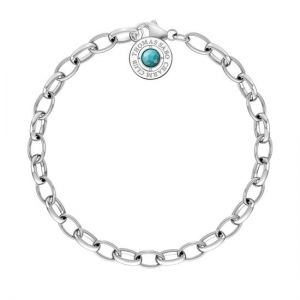 Thomas Sabo Silver and Turquoise Charm Bracelet X0229-404-17