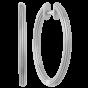 byBiehl Isla Large Silver Hoops 4-020-R
