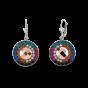 Coeur De Lion Earrings Amulet Swarovski® Crystals & mesh multicolour winter 4836201541