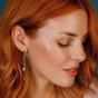 Kit Heath Blossom Blush  Double Leaf  Drop earings 60245RG029