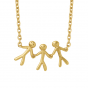 byBiehl Together Family 3 Gold Necklace 