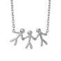 byBiehl Together Family 3 Silver Necklace  3-2003-R