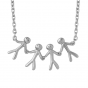 byBiehl Together Family 4 Silver Necklace  3-2004-R