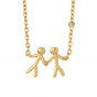 byBiehl Together My Love Gold Necklace  3-2002A-GP