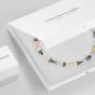 Coeur De Lion Pastel Rainbow Crystal Hoop Earrings - Silver