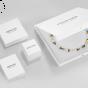 Coeur De Lion Slim Rose Gold Crystal Multicolour Pastel Bracelet