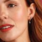 Kit Heath Desire Precious White Topaz Heart Hoop Drop Earrings 50506WT