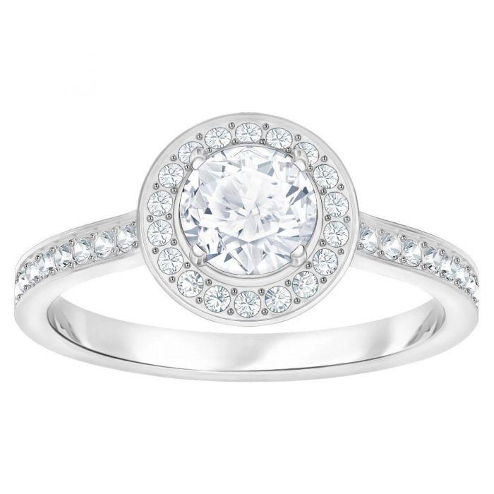 1e333b24e4f2e Swarovski Attract Light Round Ring, White, Rhodium Plating