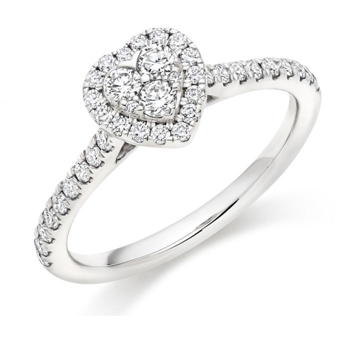 a75e1a379befd Round Brilliant Heart Shaped Diamond Cluster Ring