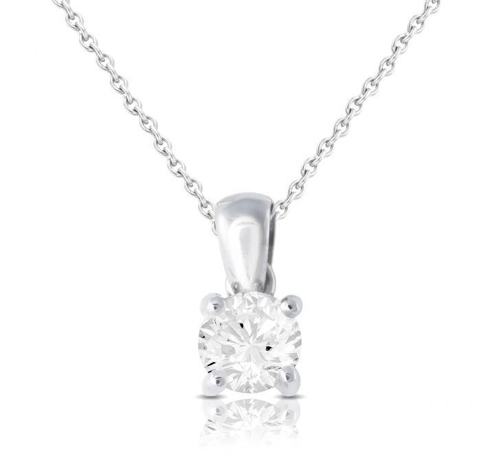 0f959b819ce77 Brown   Newirth Round brilliant diamond pendant