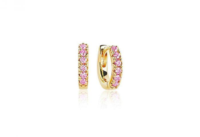 c9c2881ee Sif Jakobs Ellera Piccolo Earrings, gold with pink zirconia SJ-E1066-PK(YG)