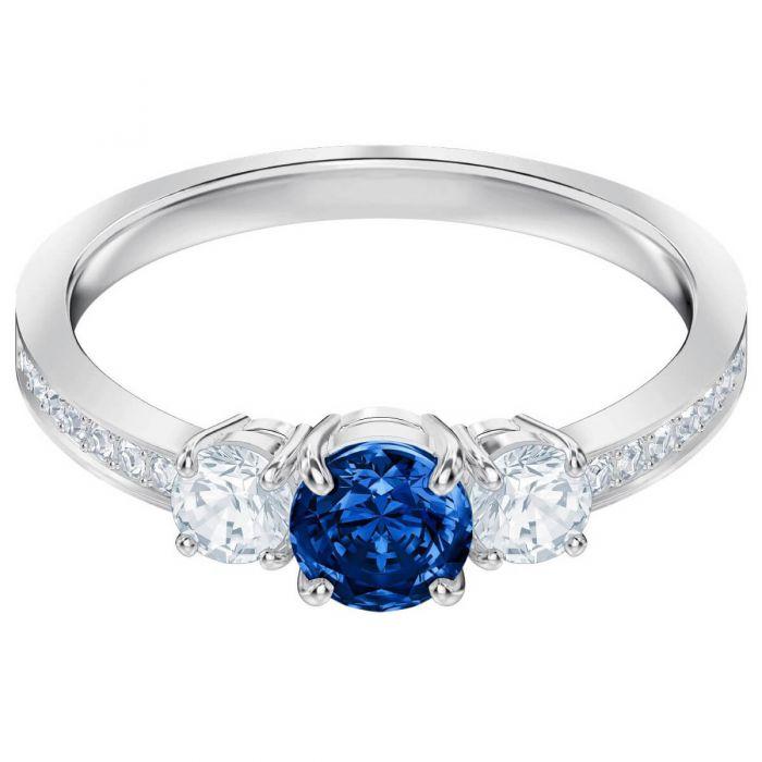 4995ca8fb Swarovski Attract Trilogy Round Ring, Blue, Rhodium Plating 5448850,  5448900, 5416152,