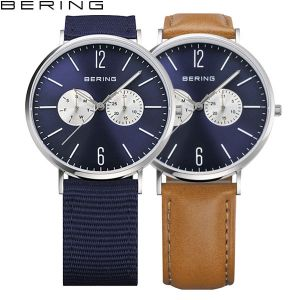 Bering Mens 'Classic' Polished Silver Watch