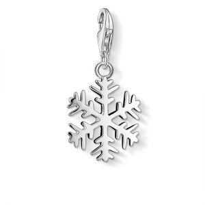 Thomas Sabo Charm Pendant, Silver Snowflake 0281-001-12