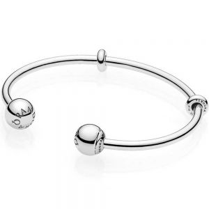 Pandora Moments Open Bangle-596477-16, 596477-17.5, 596477-19, 596477-20.5