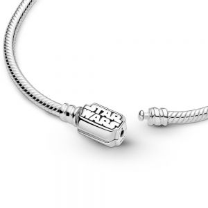 Pandora Moments Star Wars Snake Chain Clasp Bracelet-599254c00-17, 599254c00-19, 599254c00-21