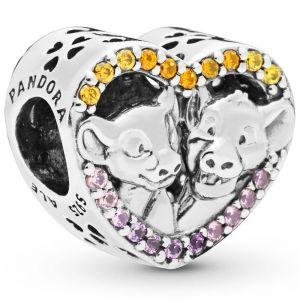 Pandora Disney Lion King Simba & Nala Heart Charm 798044NPRMX