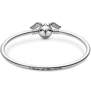 Pandora Moments Harry Potter, Golden Snitch Clasp Bangle-598619c00-17, 598619c00-19, 598619c00-21