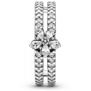 Pandora Sparkling Snowflake Double Ring 199236C01