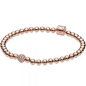 Pandora Beads & Pavé Rose Bracelet-588342CZ-17, 588342CZ-19, 588342CZ-21