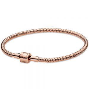 Pandora Rose Moments Barrel Clasp Snake Chain Bracelet-588781c00-16, 17, 18, 19, 20, 21