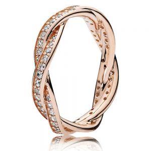 Pandora Sparkling Twisted Lines Ring 180892CZ