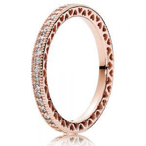 Pandora Sparkle & Hearts Ring 180963CZ