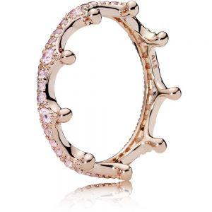 Pandora Pink Sparkling Crown Ring 187087NPO