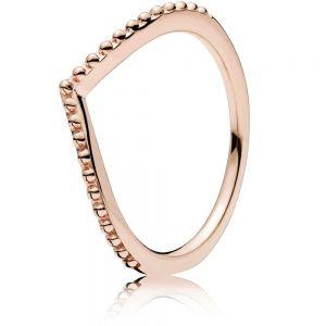 Pandora Beaded Wishbone Ring 186315