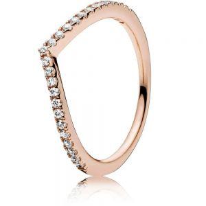 Pandora Rose Sparkling Wishbone Ring 186316CZ