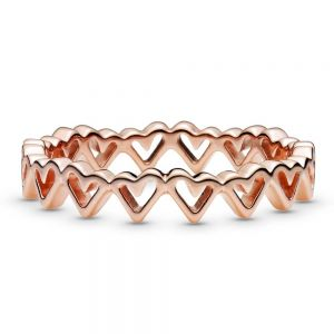 Pandora Freehand Hearts Ring 188696C00