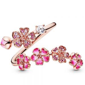 Pandora Pink Peach Blossom Flower Branch Open Ring 188088NCCMX