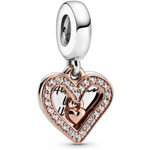 Pandora Sparkling Freehand Heart Dangle Charm-788693C01