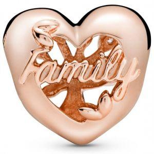 Pandora Rose Openwork Family Tree Heart Charm