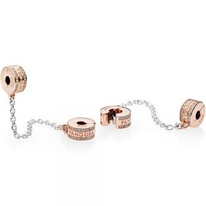 Pandora Logo Safety Chain Clip Charm 782057cz-05