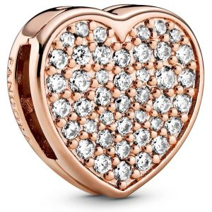 Pandora Pavé Heart Reflexions Clip Charm 788684C01