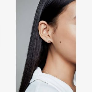 Pandora Rose Tiara Wishbone Stud Earrings-288274cz