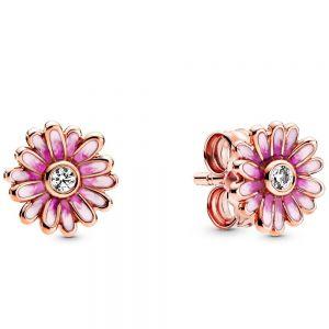 Pandora Pink Daisy Flower Stud Earrings-288773c01