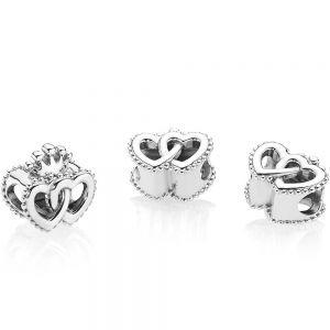 Pandora Crown & Interwined Hearts Charm 797670