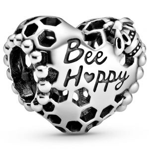 Pandora Bee Happy Honeycomb Heart Charm 798769C00