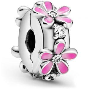 Pandora Pink Daisy Flower Clip Charm 798809C01