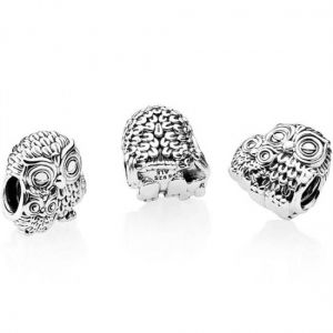 Pandora Mother Owl and Baby Owl Charm