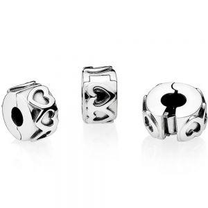 Pandora Band of Hearts Clip Charm 791978