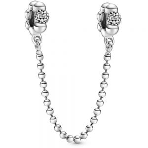 Pandora Beads & Pavé Safety Chain Charm 798680C01-05