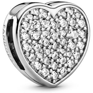 Pandora Pavé Heart Clip Charm 798684C01