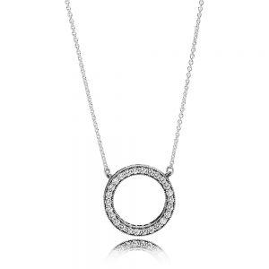 Pandora Circle of Sparkle Necklace 45cm 590514CZ