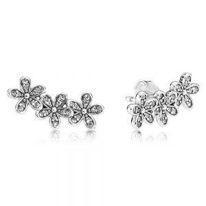 Pandora Daisy Flower Stud Earrings-290744cz