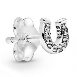 Pandora My Lucky Horseshoe Single Stud Earring