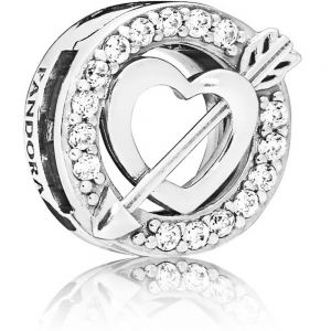 Pandora Asymmetrical Heart & Arrow Clip Charm 797793CZ